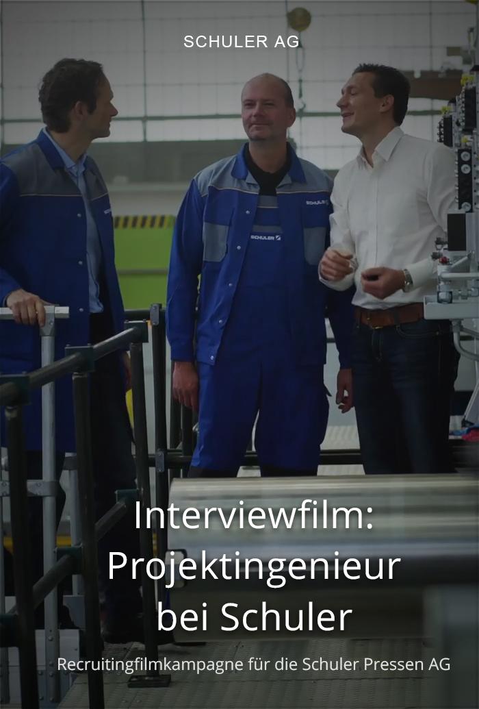Testimonialfilm für Schuler: Projektingenieur